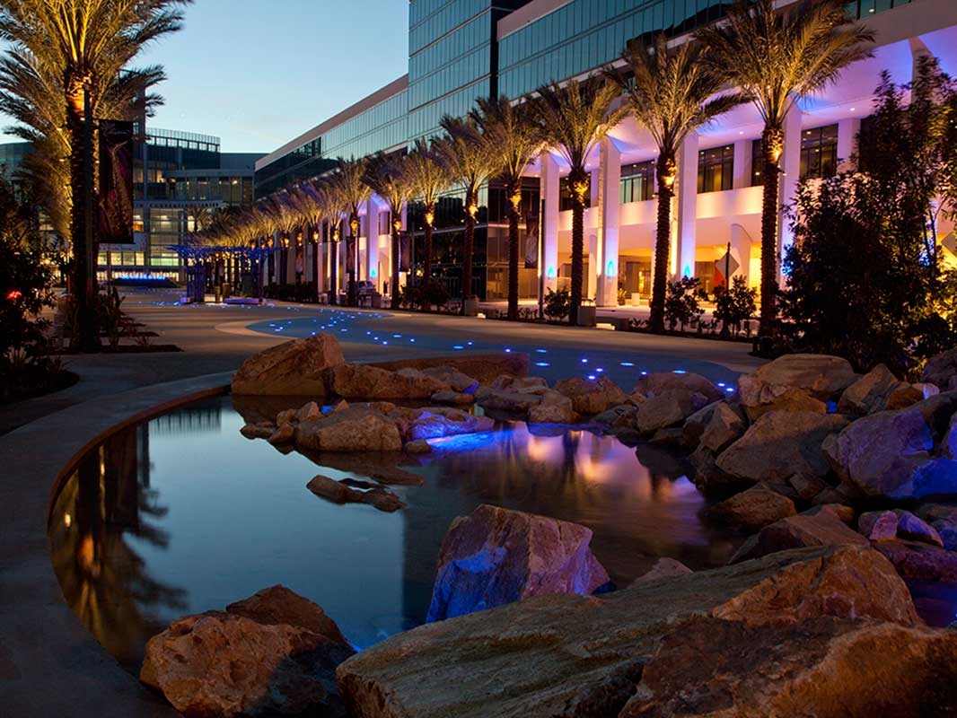 Anaheim Convention Center Mountain Fountain
