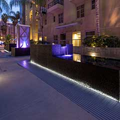 Stunning water feature at 133 Promenade Walk in Long Beach, CA