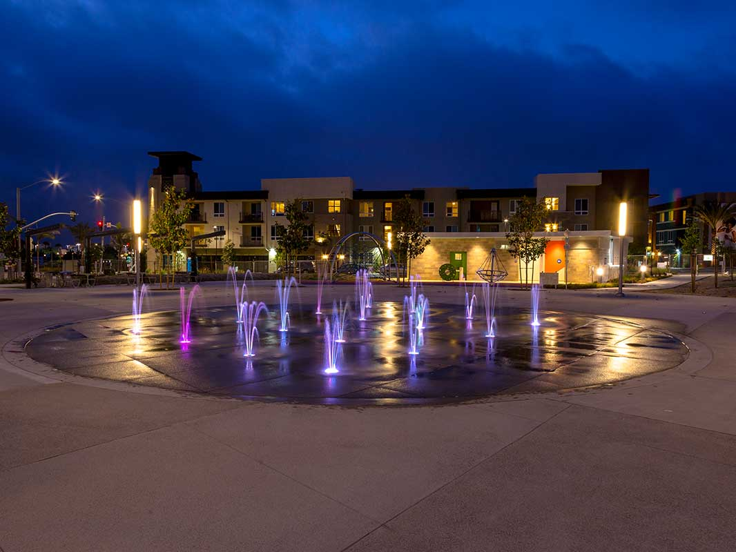 Millenia Project Splashpad Night