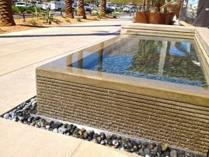Westfield Palm Desert water feature