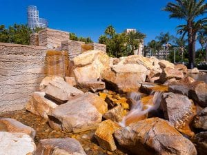 Anaheim Convention Center Mountain Fountain