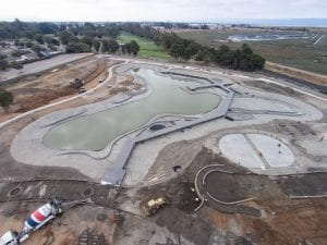 Community park lake construction
