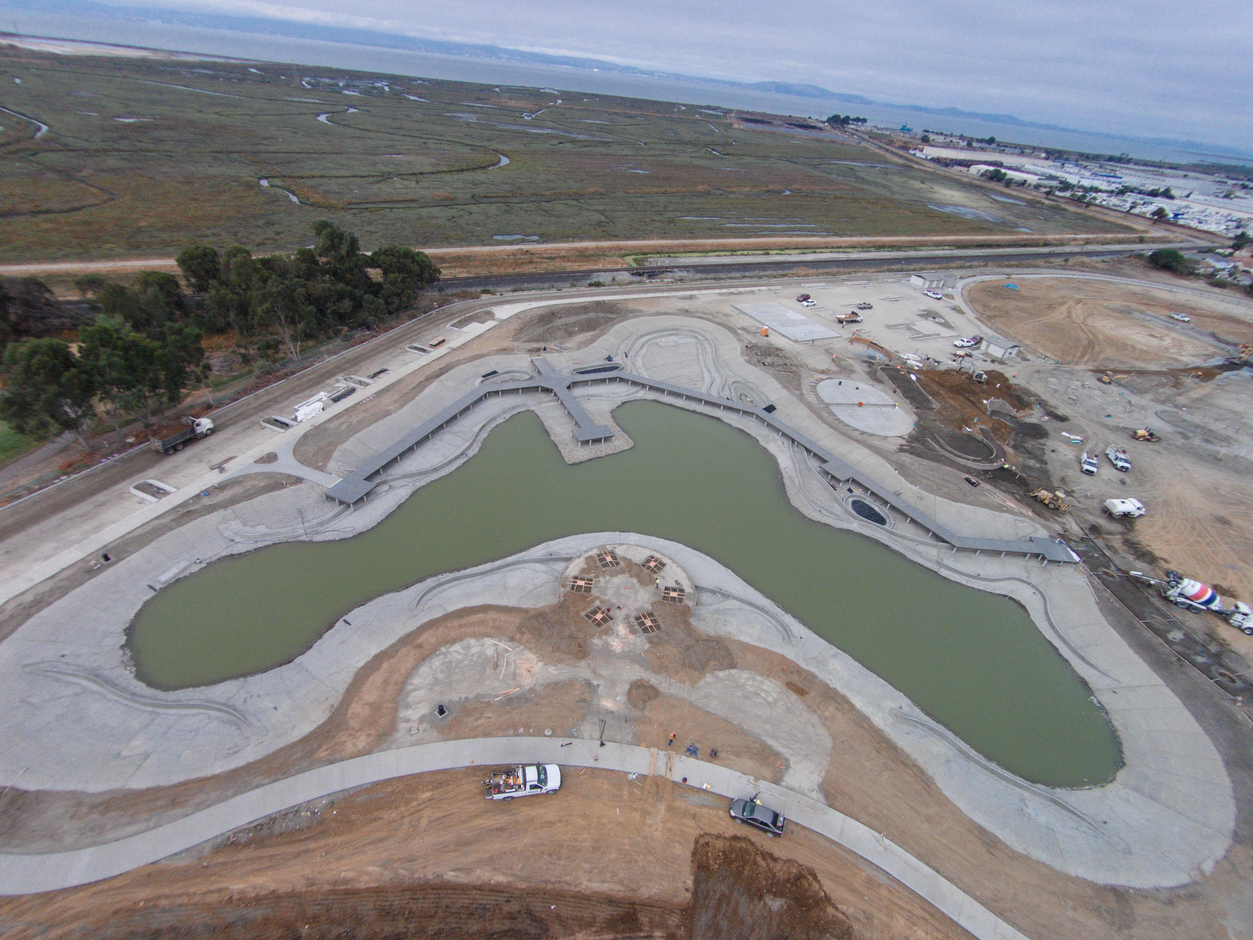 San Lorenzo Community Park Pond Construction
