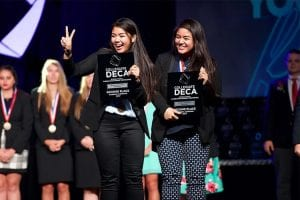 Winners of DECA's 2017 Collegiate International Career Development Conference