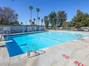 neighborhood pool deep end diving board