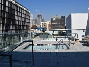 City apartment patio outdoor jacuzzi