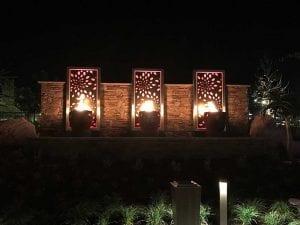 Pechanga Resort & Casino fire water feature at night