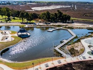 Hayward Area Recreation and Park pond construction