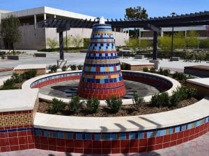 Santa Ana California fountain