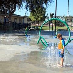 Valencia Park Splash Pad in Fullerton