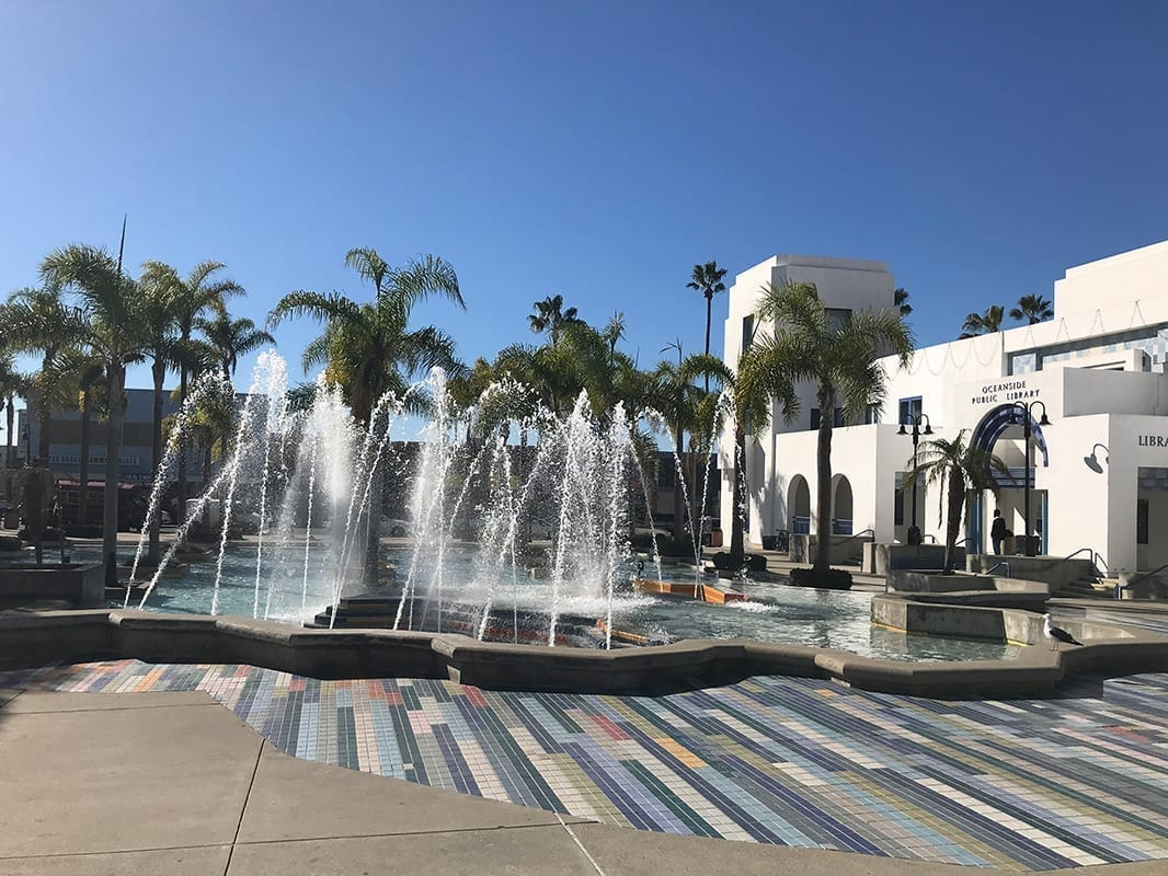 Oceanside Civic Center Fountain