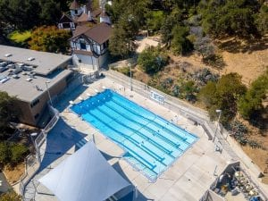 Overhead View of St Matthews Pool and Lap Lanes