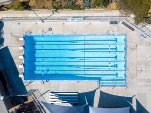 Overhead View of St Matthews Pool and Pool Deck