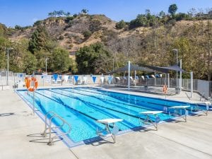 Side View of St Matthews Pool