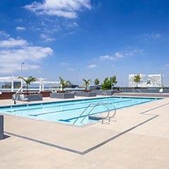 Podium pool at Elements Apartment Community - Irvine, CA